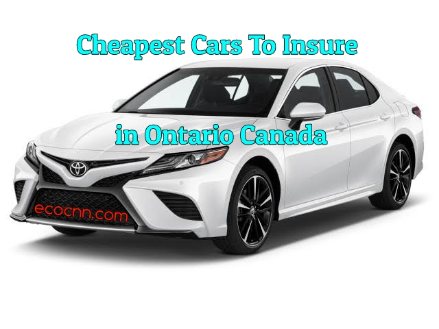 Cheapest Cars To Insure In Ontario 2021 List