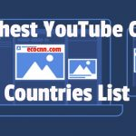 Highest YouTube CPM countries list 2021