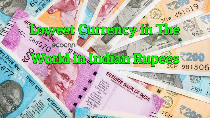 Countries with Lowest Currency Value than Indian Rupees List